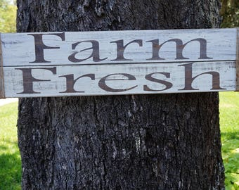 Farm Fresh Sign, Rustic Farm Sign, Farmhouse Sign, Farmhouse Decor, Farm Sign, Kitchen Sign, Rustic Kitchen Decor, Farm Fresh Sign