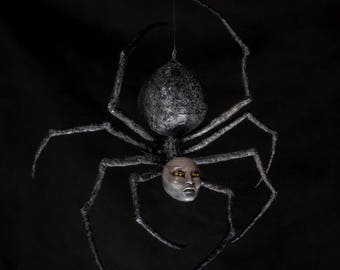Areop-Enap - ooak hand made horror art african spider sculpture