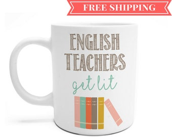 English Teacher Gift - Teacher Christmas Gift Ideas - Best Teacher Mug - Funny Teacher Mug - Teacher Gift Ideas - Teacher Mug