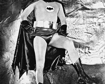 Batman in The Bat Cave Adam West 8x10 Photograph
