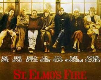 St Elmo's Fire Movie  Rare Vintage Poster