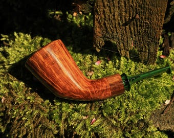 Briar smoking pipe, Dublin nose warmer, no filter smooth