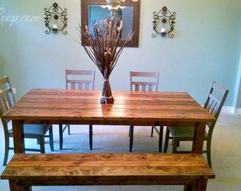Trimmed Pioneer Style farm Table