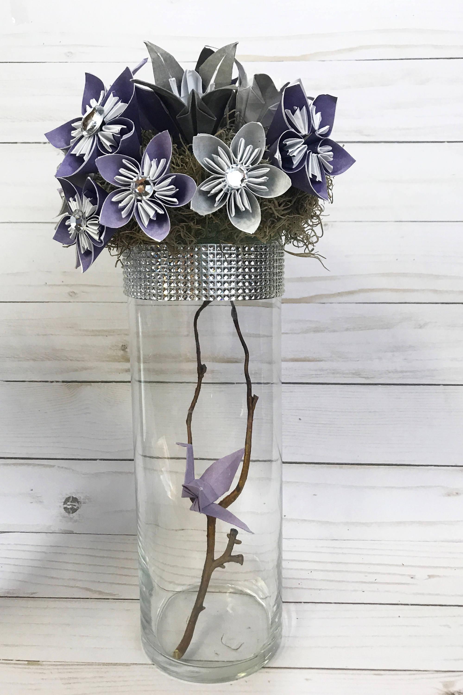 Paper flowers, Wedding centerpiece, wedding bouquet, origami flowers ...