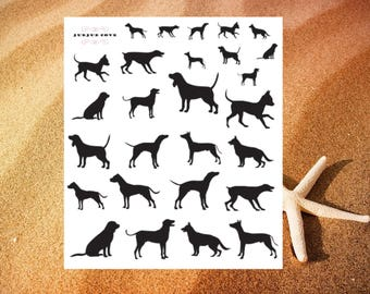 Planner stickers - Dog Stickers -  Dog Silhouette stickers