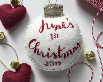 Baby's First Christmas Ornament (for 2018), Holiday ornament, Christmas decor, Baby gift, Christmas baby