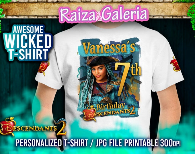 Birthday Tshirt Disney Descendants - UMA - We deliver your order in record time!, less than 4 hour! Best Value - Descendants Party