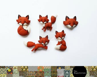 Fox Fridge Magnet Set
