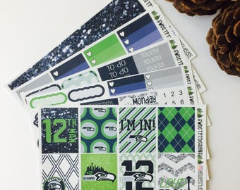 "Deluxe EC Weekly Planner Sticker Kit ""12th man"""