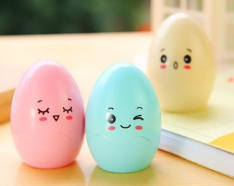 Cute Egg Pencil Sharpeners / Kawaii Pencil Sharpeners / Cute Pencil Sharpeners / Cute Stationery / Kawaii Stationery / Cute School Supplies