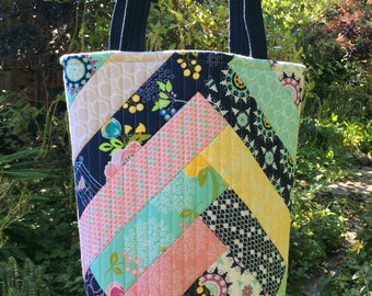 Lulabelle Tote Bag, Tote Bag, Tote, Bag, Quilted Tote Bag, Patchwork Tote Bag, Quilted Patchwork Bag, Quilted Patchwork Tote Bag, Floral Bag