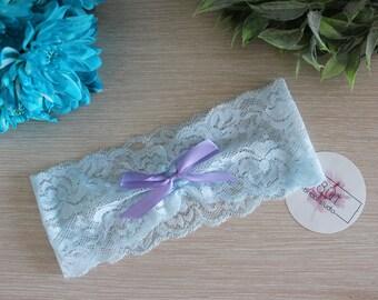 BLUE LAVENDER | Blue lavender bridal garter, lace wedding garter, something blue, bridal lingerie