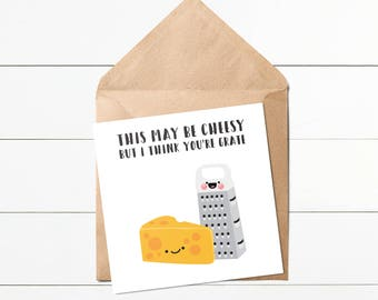 I Think You're Grate // Cute Birthday Cards // Valentine's Cards // Greeting Cards // Greeting Card #SC050