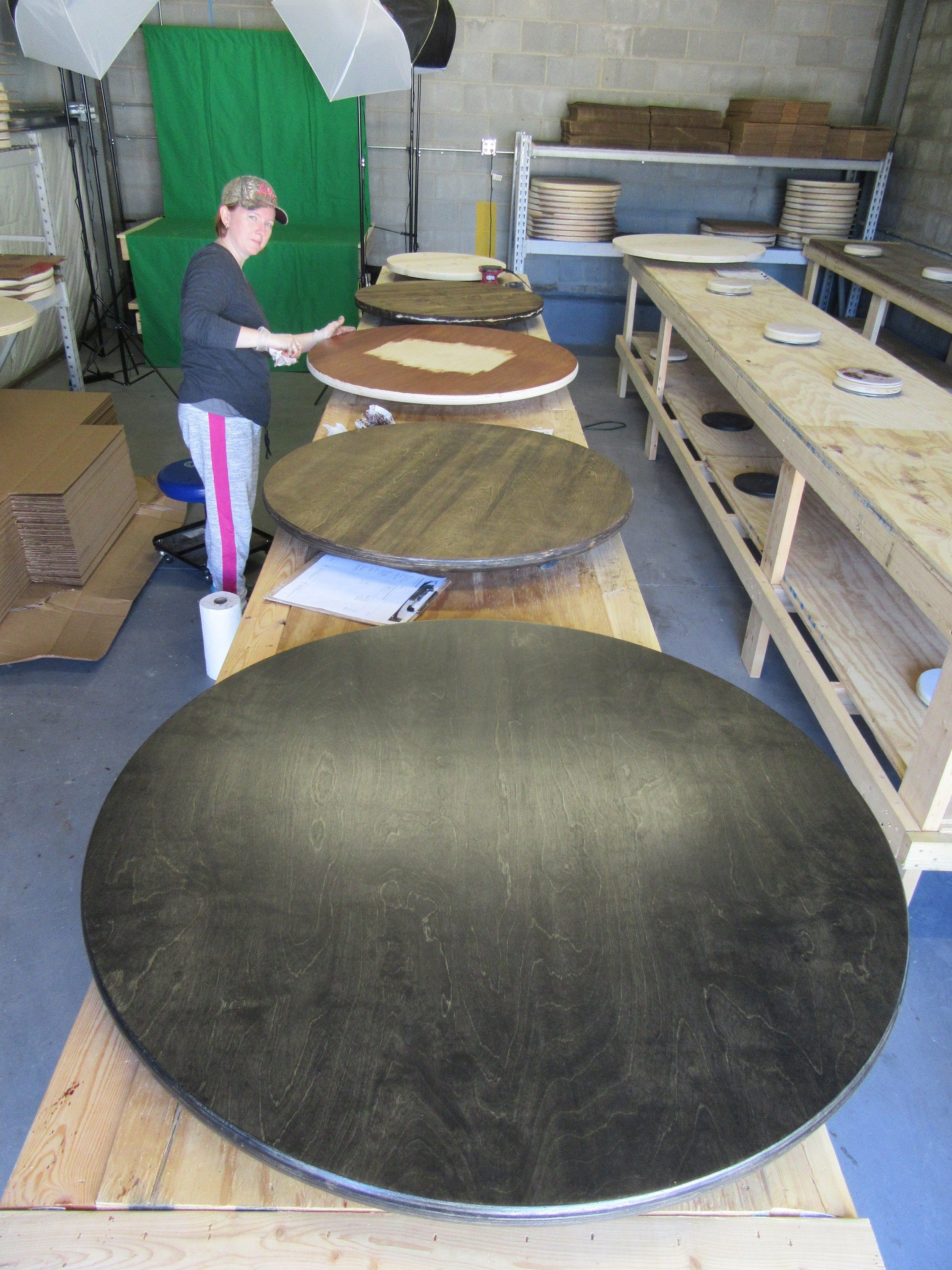 Black Wood Lazy Susan Table Centerpiece Painted Or Ebony Stain