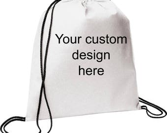 Customize your own draw string bag