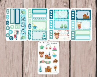 WINTER WONDERLAND Folding Mini Kit | Planner Stickers perfect for ALL Planners | CCf38