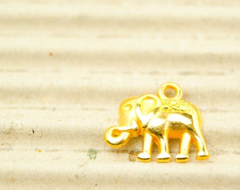 1x Elephant 16 mm gilded art. 4709