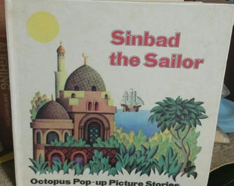 Sinbad the Sailor Octopus Pop Up Picture Stories Childrens Book/Vintage 1979 Second Impression/Collectible Book/Kid's Room Decor/Childs Gift