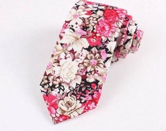 """Floral Skinny Tie 2.36"""""""