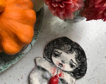 Porcelain Vampire plate , perfect gift for Halloween