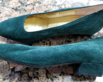 Bruno Magli Green Fabric Slip-Ons - Sz. 7