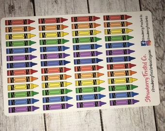 Crayons in Bold-  Made to fit Vertical or Horizontal Layout