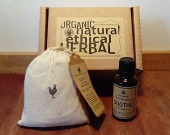 Perfect Post Workout Relaxation Kit/ Gift Set | All Natural Sports Massage Oil & Bath Salts| Christmas Gift for Body Mind