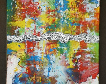 Colorful acrylic abstract painting