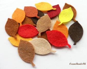Autumn Felt Leaves G, Felt leaves, felt shapes, appliques, Autumn leaves, filz blätter
