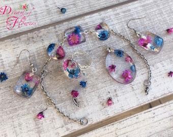 Set Flowers Cyclamen-blue-resin/flower flowers cyclamen-blue-resin