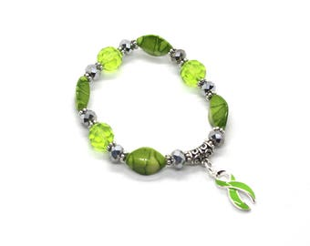 Lyme Disease Awareness - Lyme Disease Bracelet - Lyme Disease - Lyme Disease Gift - Lymphoma Awareness - Muscular Dystrophy - Lyme Awareness