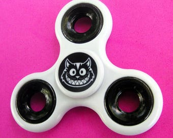 Cheshire Cat FIDGET SPINNER - Fun Finger Toy Hand Spinners - White - Cheshire Originals
