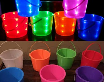PRE-ORDER Light-up, Flashing, LED, Multi-color Halloween Buckets