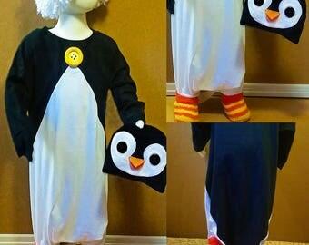 Toddler One-piece Penguin Costume Sleeper, Christmas, Halloween, Playtime, Unisex, Girl, Boy, Tots Sleepwear, Size: 1T-4T