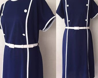 True Vintage Mod Style Late 60's/Early 70's Dress