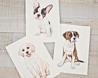 Pet Portrait, Custom Portrait Illustration, Pet Watercolor Painting, Cat, Dog, Pet Memorial, Personalized Gift, Art Commission, Drawing