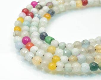 Natural Agate Gemstone Beads Faceted Round Beads 6mm Natural Stones Beads Healing chakra stones Jewelry Making Item# 789222065232