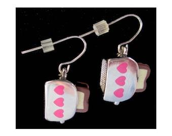 Toaster Dangle Earrings * Food Earrings * Kitsch Jewelry