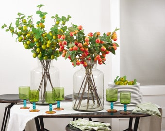 APPLES & PEARS Table Decor (4 piece) artificial fruit - apple decor - pear decor - fruit accents - faux fruits