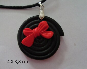 Fimo pendant food candy licorice candy