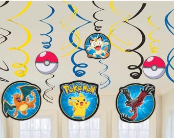 Pokemon party hanging decoration