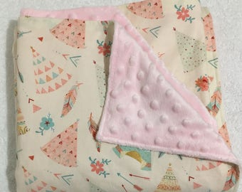 Baby Blanket, Baby Shower Gift, New Mum gift, Pram blanket, Boho baby blanket, Modern Baby Blanket, Baby girl blanket, Teepee Blanket