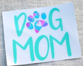 dog mom vinyl decal, dog mom decal, dog mom sticker, dog lover decal, dog mama decal, fur mama decal, fur mama sticker