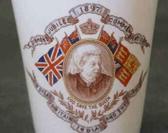 DOULTON Beaker for Diamond Jubilee Queen Victoria in 1897 Made for Eaton Canada