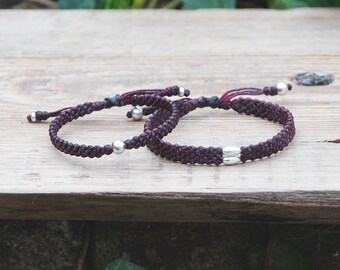 Bracelet Femme Homme Couple bracelets to wear everyday His and Her handcrafted bracelets Matching customized colors 2nd Anniversary gift