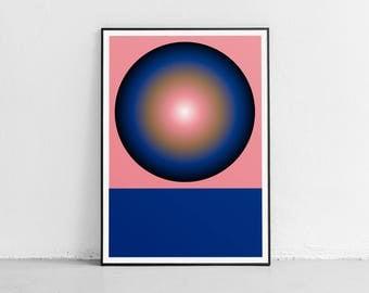 Circle 03. Wall art. Original poster. High quality giclée print. signed by designer.