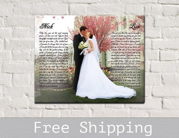 Wedding Vows Canvas First Dance Song Lyrics Canvas Photo