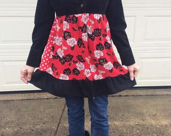 Funky Festival Jacket in Black and Reds