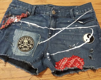 Womens Vintage Jean Shorts
