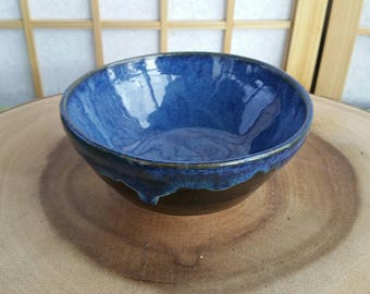 Blue and tenmoku chawan, teabowl for the Japanese tea ceremony